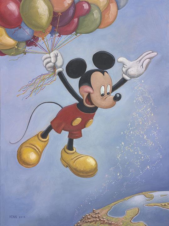 Mickey - 90th Birthday Portrait